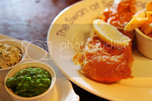 The Swan at Southrop,The Cotswolds,Fish and Chips