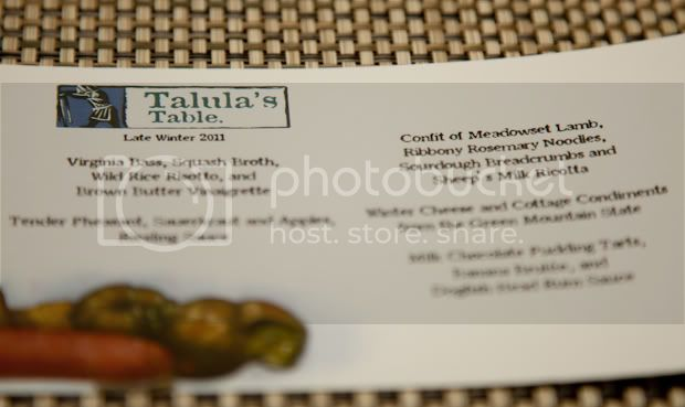 Talula's Table,Kennett Square,Pennsylvania,Farm Table,Menu