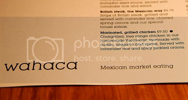 Wahaca London,Mexican Restaurant,Menu at Wahaca